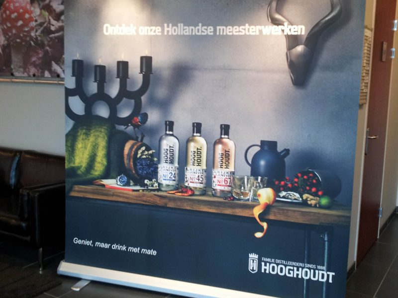 Hooghoudt roll-up banner